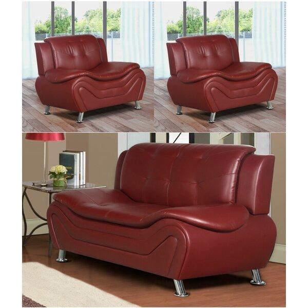 Machelle 3 Piece Living Room Set by Orren Ellis Orren Ellis