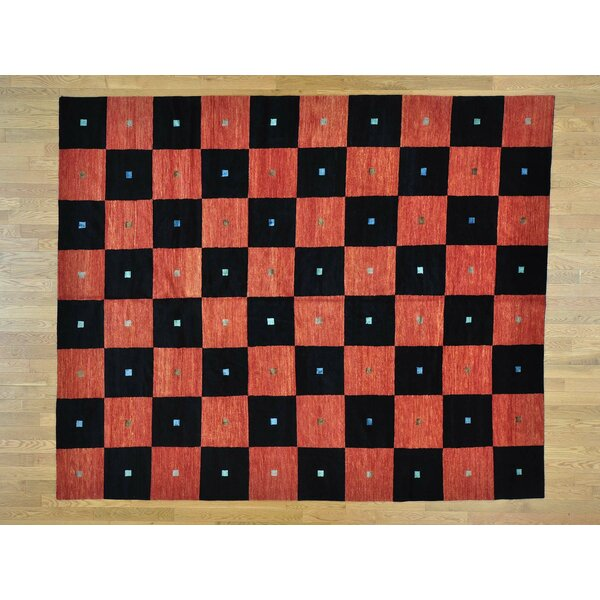 One-of-a-Kind Becker Checkerboard Design Handwoven Wool Area Rug by Isabelline
