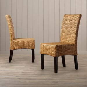 patricia solid wood dining chair set of 2