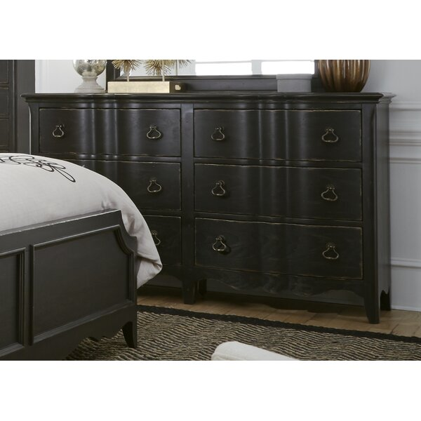 Bartow 6 Drawer Double Dresser by Three Posts