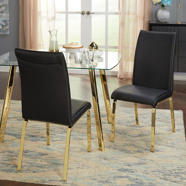 Leia Upholstered Dining Chair (Set of 2) by Wrought Studio