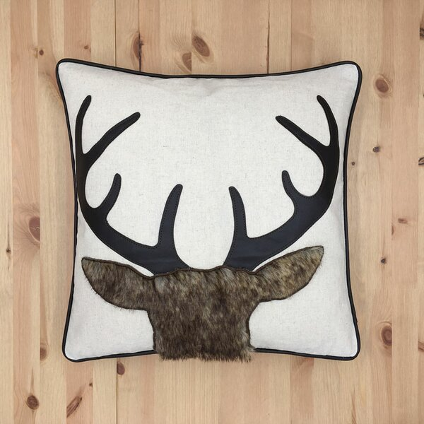 Oswaldo Reindeer Throw Pillow by Loon Peak