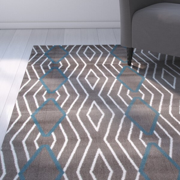 Penny Gray/Blue Area Rug by Zipcode Design