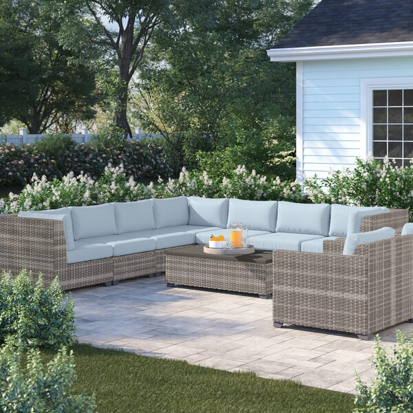 Merlyn 10 Piece Sectional Seating Group with Cushions by Sol 72 Outdoor