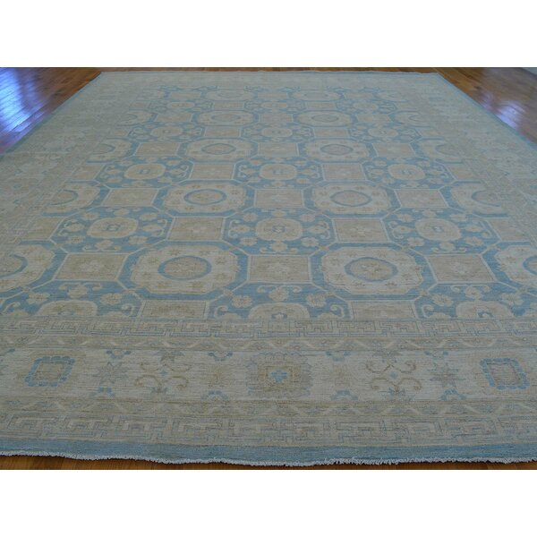 One-of-a-Kind Beauchemin Hand-Knotted Blue Wool Area Rug by Isabelline