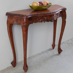Luck Hand Carved Wood Console Table by Astoria Grand