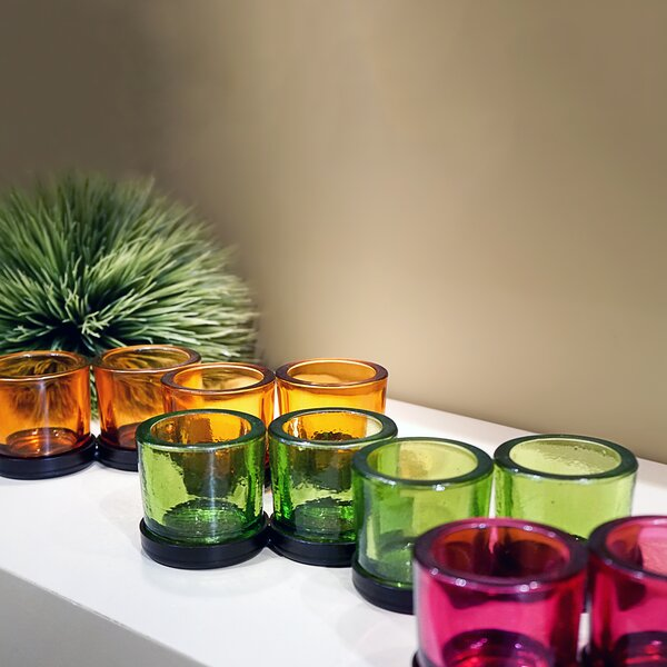 Glass Votive (Set of 4) by Canora Grey