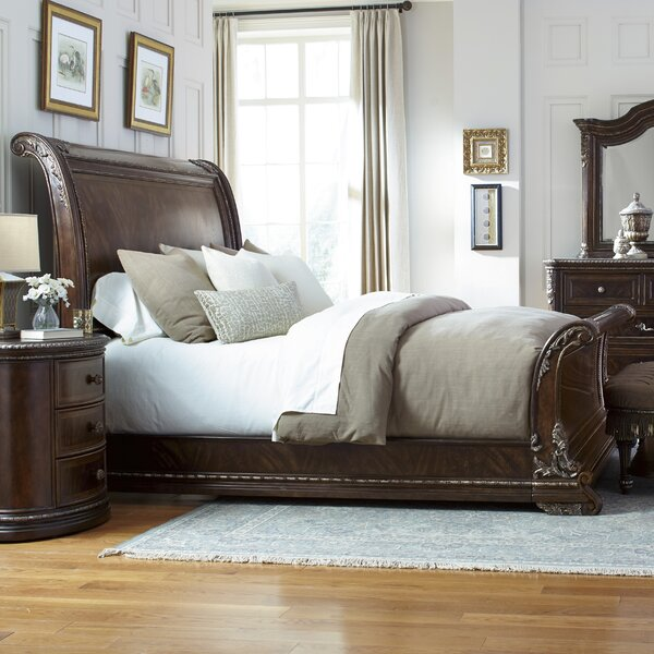 Hepburn Sleigh Bed By Astoria Grand by Astoria Grand No Copoun