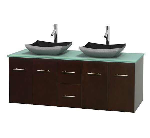 Centra 60 Double Bathroom Vanity Set by Wyndham Collection