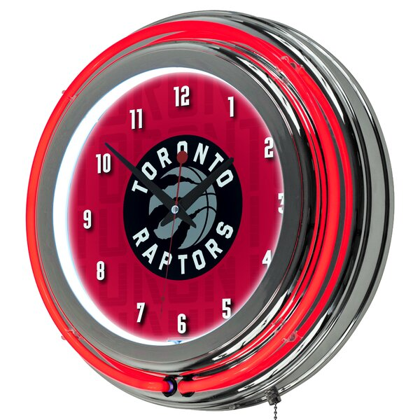NBA City Neon 14.5 Wall Clock by Trademark Global