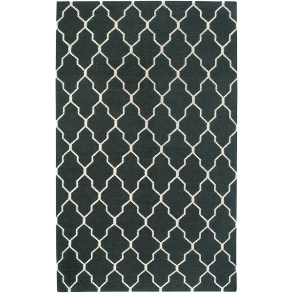 Hand-Woven Black Area Rug by The Conestoga Trading Co.