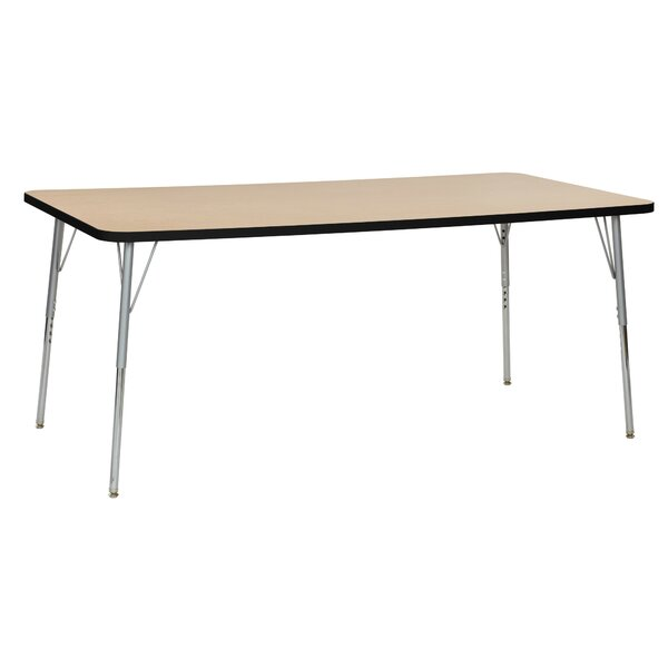 Maple Contour Thermo-Fused Adjustable 36 x 72 Rectangular Activity Table by ECR4kids
