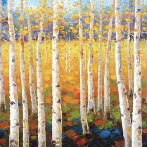 Birch Forest by Robert Jeon Painting Print on Wrapped Canvas by Portfolio Canvas Decor