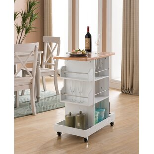 Compare prices Kempton Storage Kitchen Cart by Winston Porter