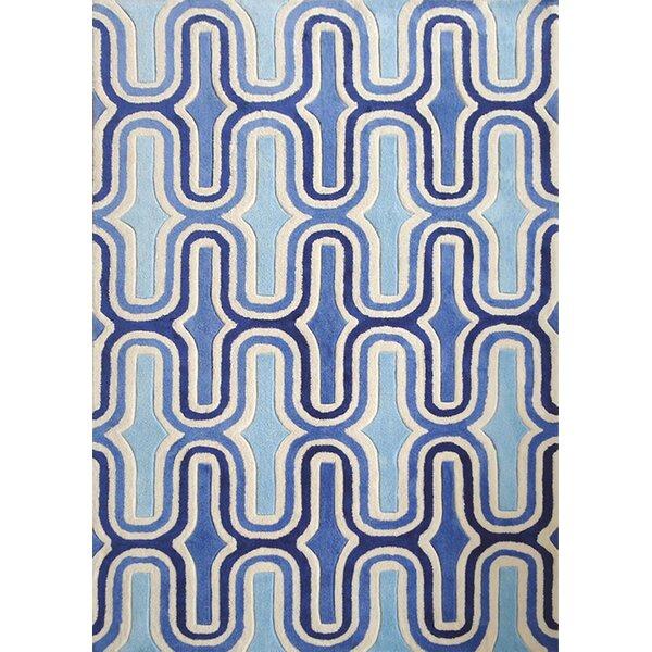 Haynie Hand-Tufted Blue Indoor Area Rug by Brayden Studio