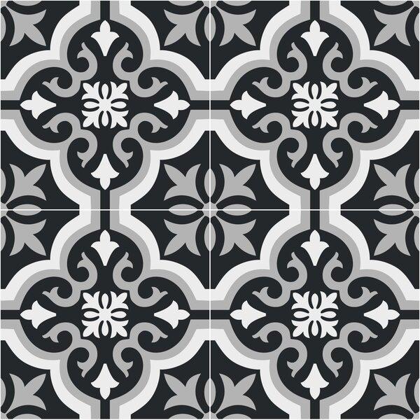 Gallery 8 x 8 Ceramic Field Tile Seville Black by Mulia Tile