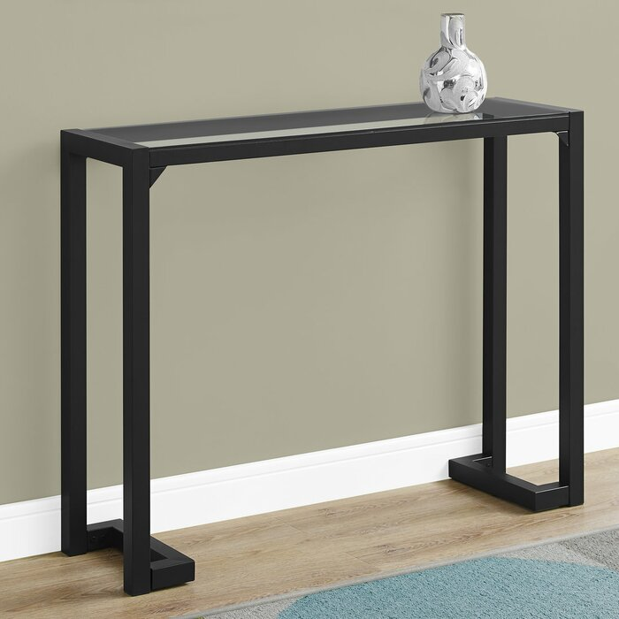 Tempered Gl Hall Console Table