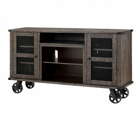 Open Storage Space 66.125 TV Stand with Fireplace by Dimplex
