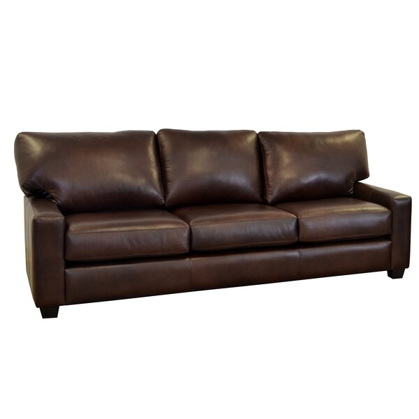 Kenmore Studio Leather Sofa by Westland and Birch