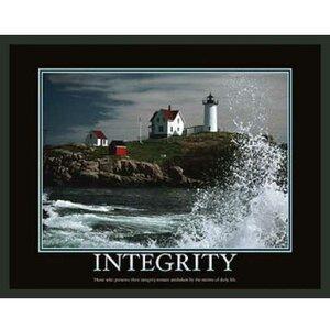 Motivational Integrity Framed Photographic Print by Frames By Mail