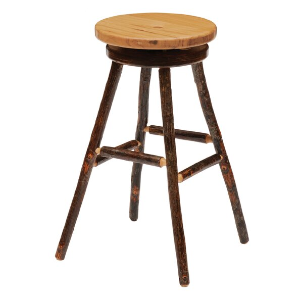 Hickory 30 Swivel Bar Stool by Fireside Lodge