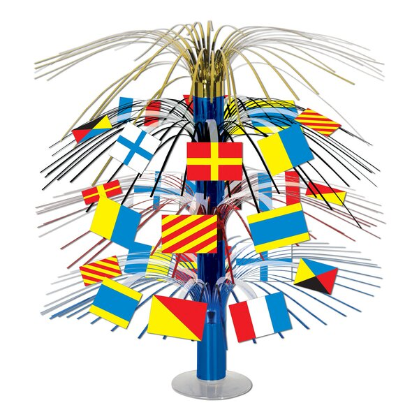 Nautical Flag Cascade Centerpiece (Set of 6) by The Beistle Company