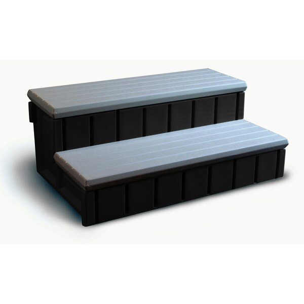 Spa Step with Storage in Gray by Confer Plastics