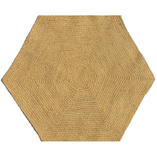 Ephemerine Natural Hand-Woven Gold Area Rug by August Grove