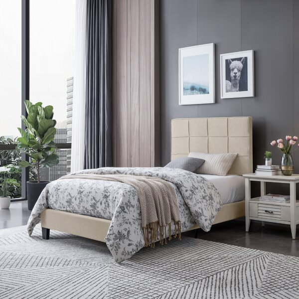 Twin Upholstered Platform Bed by Ebern Designs
