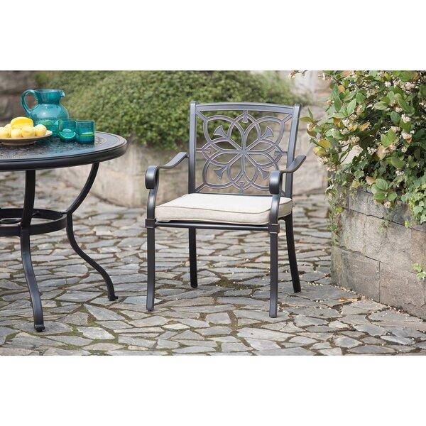 Suellen Patio Dining Chair with Cushion (Set of 2) by Fleur De Lis Living
