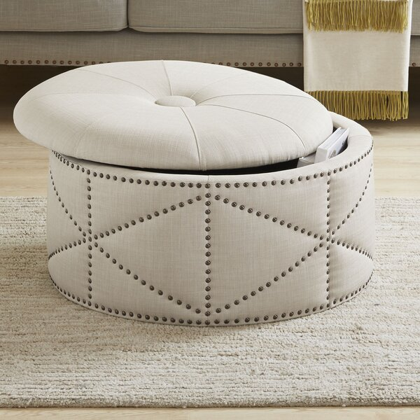 Keturah Cocktail Storage Tufted Ottoman by House of Hampton