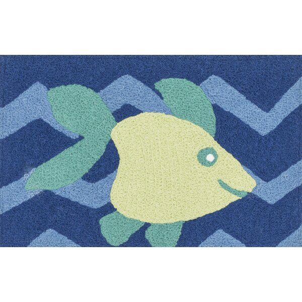 Jiles Blue/Yellow Area Rug by Zoomie Kids
