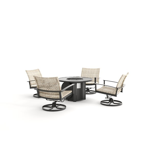 Jasper 5 Piece Rattan Multiple Chairs Seating Group