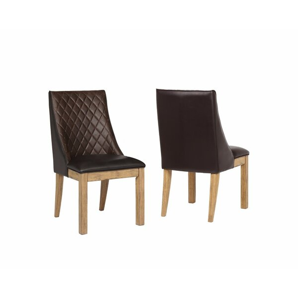 Berenice Demi-Wingback Upholstered Dining Chair (Set of 2) by Foundry Select