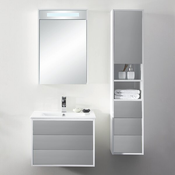 Donze 24 Wall-Mounted Single Bathroom Vanity Set by Latitude Run