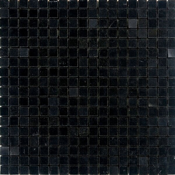 0.63 x 0.63 Granite Mosaic Tile in Absolute Black by Epoch Architectural Surfaces