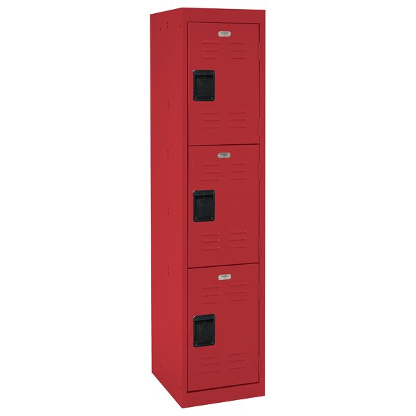 3 Tier 1 Wide School Locker by Sandusky Cabinets