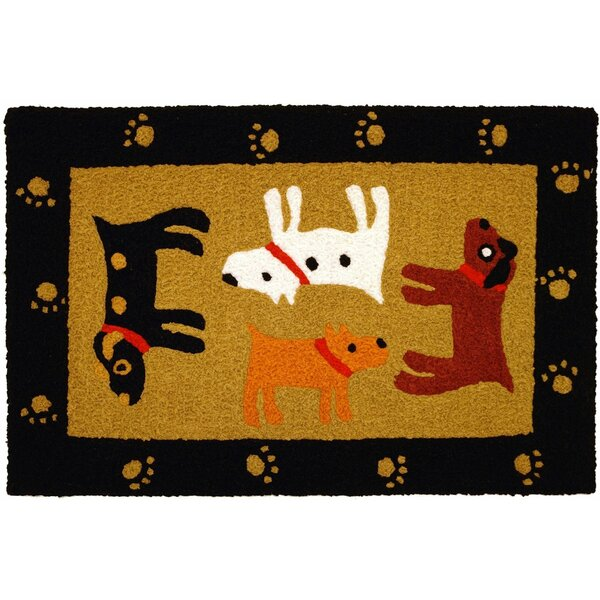 Beatson Woof Black Hand-Tufted Black/Yellow/Brown Indoor/Outdoor Area Rug by Winston Porter