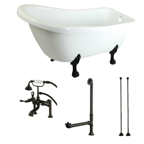 67 x 28 Clawfoot Soaking Bathtub by Kingston Brass
