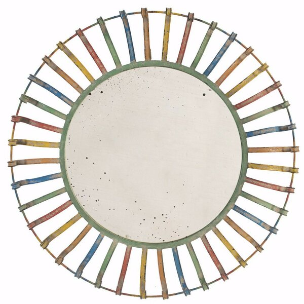Madsen Colorful Accent Mirror by Bungalow Rose