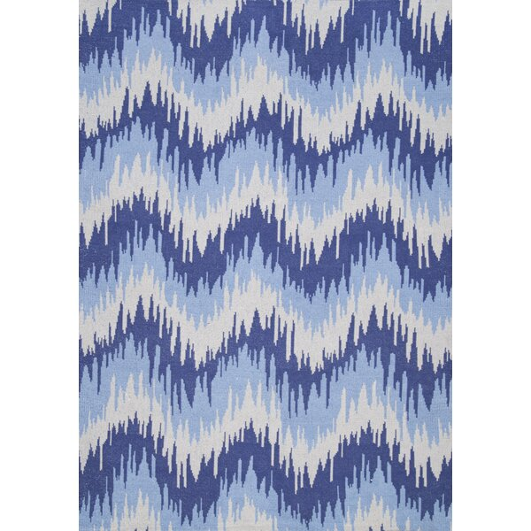 Tabit Hand-Loomed Blue Area Rug by Wrought Studio