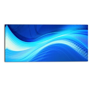 Blue Hues Graphic Art on Wrapped Canvas by Design Art
