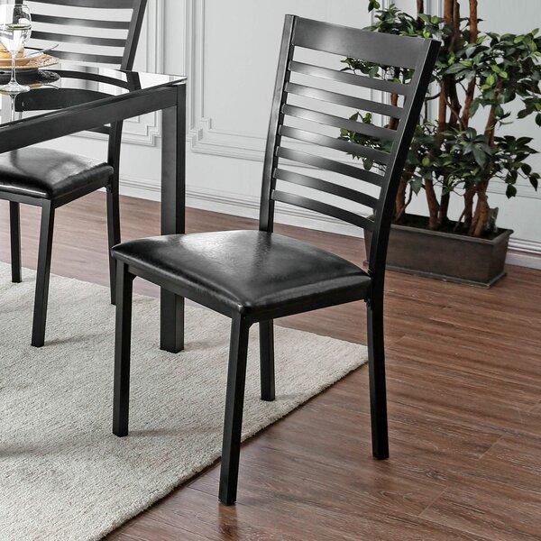 Dalston Metal Ladder Back Side Chair in Black (Set of 2) by Red Barrel Studio Red Barrel Studio