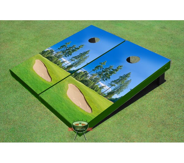Golf Course Bunker Cornhole Board (Set of 2) by All American Tailgate