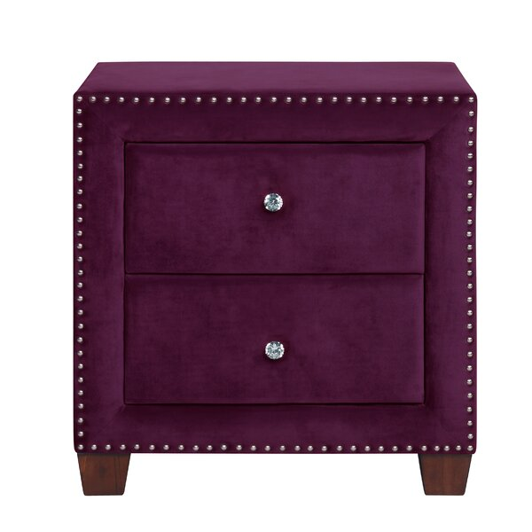 Caddell 2 Drawers Nightstand by Mercer41