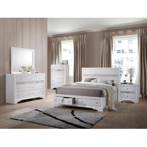 Cecelia Storage Platform Configurable Bedroom Set by Rosdorf Park