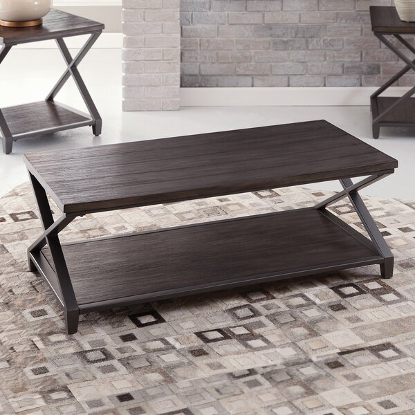 17 Stories Wood Top Coffee Tables