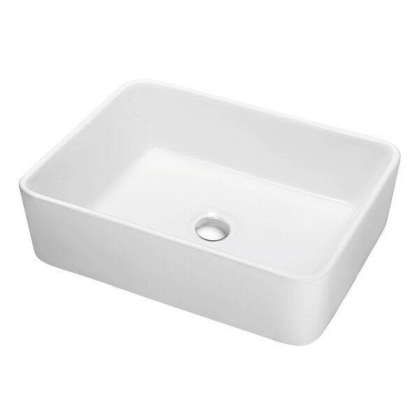 Ceramic Rectangular Vessel Bathroom Sink by Dawn USA