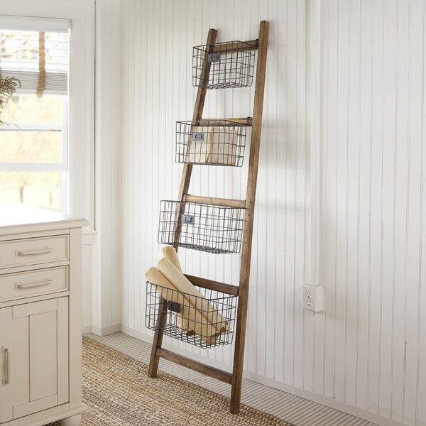 Vertical Wooden 6 ft Decorative Ladder by Gracie Oaks