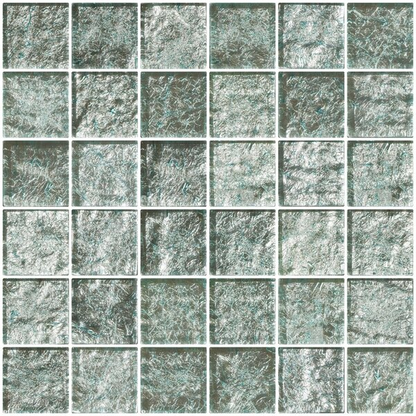 2 x 2 Glass Mosaic Tile in White Gold by Susan Jablon
